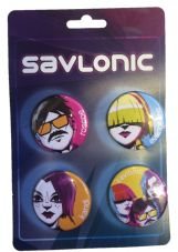 Savlonic Members 35mm Badge Pack